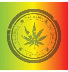 Marijuana stamp vector