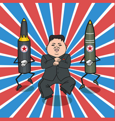 North korean style vector
