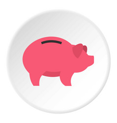 piggy icon circle vector image
