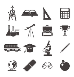 School black icon set vector