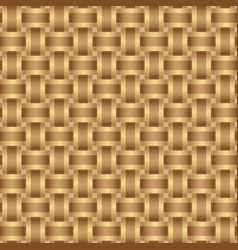 Seamless pattern braided brown ribbon vector