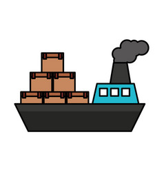 Ship boat delivery service vector