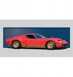 sixties sports car vector image vector image
