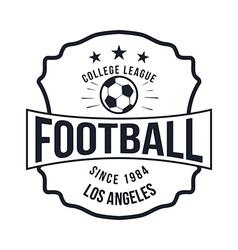 Soccer football typography badge design element vector