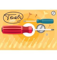 Standard cabinet tip screwdriver turn-screw vector