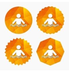 Swimming sign icon Pool swim symbol vector image