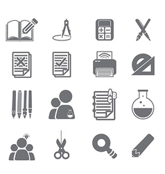 tools learning icon set 2 vector image vector image