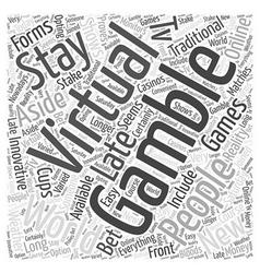 Virtual gambling word cloud concept vector