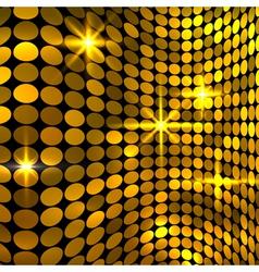 Wavy golden mosaic background vector