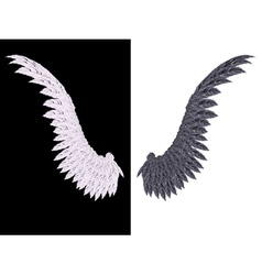 White and black wing2 vector