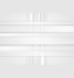 white geometric technology stripes background vector image vector image