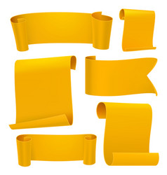 yellow tapes template set vector image vector image