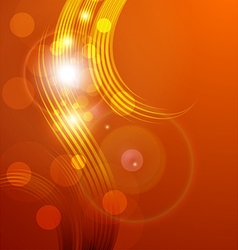 Orange Abstract Background with Sunlight Rays vector image