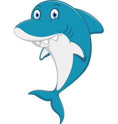 Happy shark cartoon vector