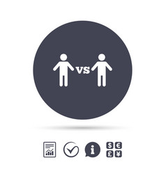 player vs player sign icon games symbol vector image