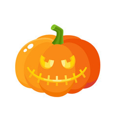 Laughing grinning pumpkin jack-o-lantern with vector