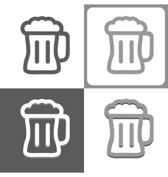 Beer mug icon vector