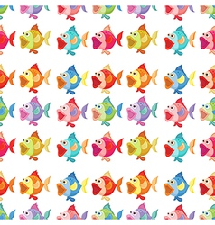 A seamless design of fishes vector