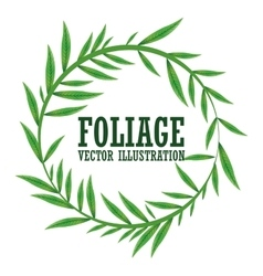 Foliage icon design vector