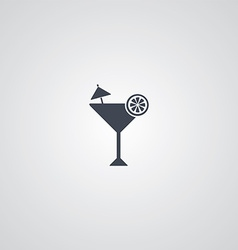 Martini cocktail glass logotype vector