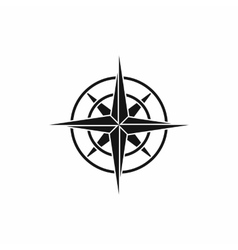 Ancient compass icon simple style vector