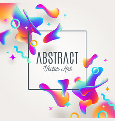 abstract background with fluid multicolored drops vector image