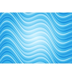 Bright blue wavy template vector