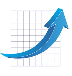 Business graph with arrow vector
