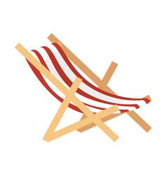 Chair beach isolated icon vector