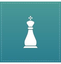 Chess king icon vector