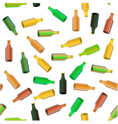 colored glass bottle seamless pattern vector image