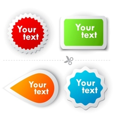 colorful sticker for text vector image