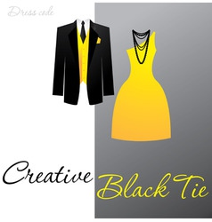 creative black tie vector image