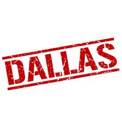 Dallas red square stamp vector