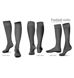 Football socks vector