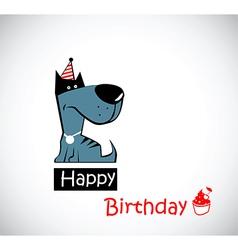 Happy Birthday dog vector image vector image