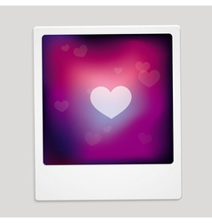 Heart sign on polaroid frame - abstract car vector