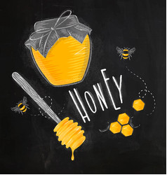 honey elements chalk vector image vector image