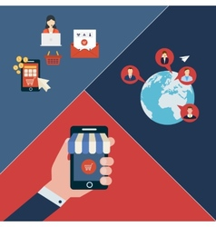 Icons for mobile marketing vector image