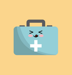 Kawaii first aid kit vector