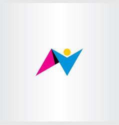 man letter n logo design icon symbol vector image