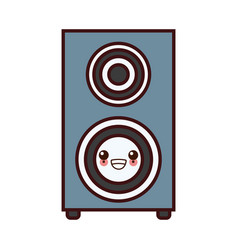 music speaker device kawaii cartoon vector image