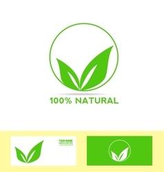 Natural product bio eco vegan vector
