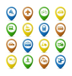 Navigation pins set vector image