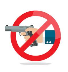 No gun weapon sign vector