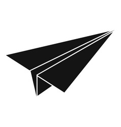 Paper airplane icon simple style vector