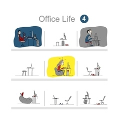 Programmers at work office life sketch for your vector image vector image