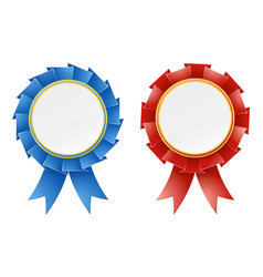 red and blue rosettes vector image