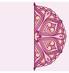 semicircle ornament vector image vector image