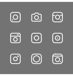 Simple camera icons vector image